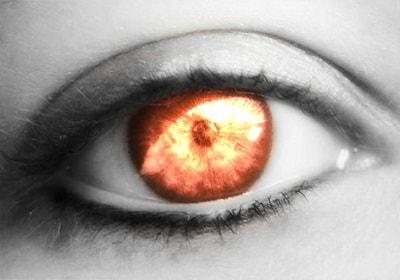 Глаза как включенные фары