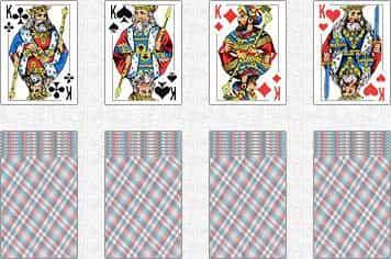 Схема гадания на 4-х королях