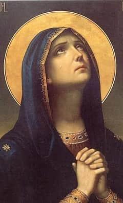 Скорбящая Божья Мать (Русский светец) Приметы  картинка