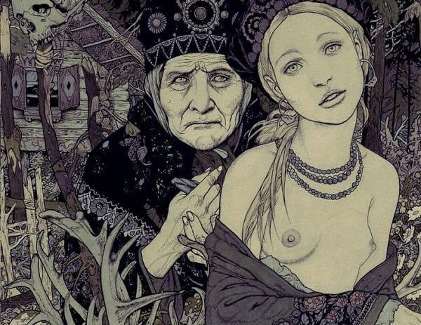 Баба яга и Василиса прекрасная